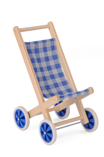 Puppenwagen Buggy - sehr stabil aus massiven Holz