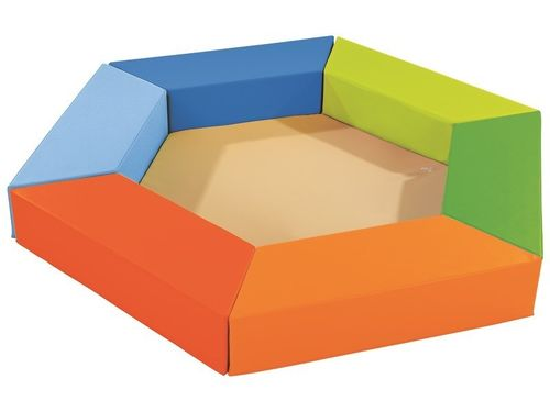 Trapez -  Hocker -  Set 6 mit Bodenmatte