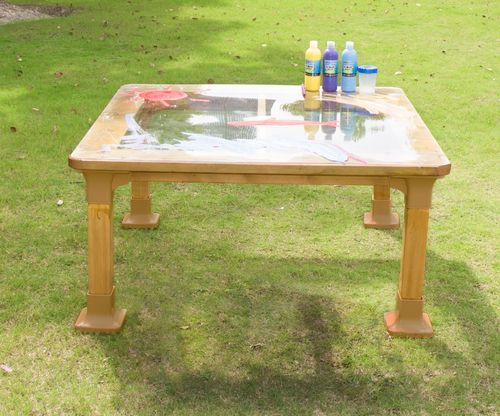 Outdoor Tisch - transparent Maltisch BIG